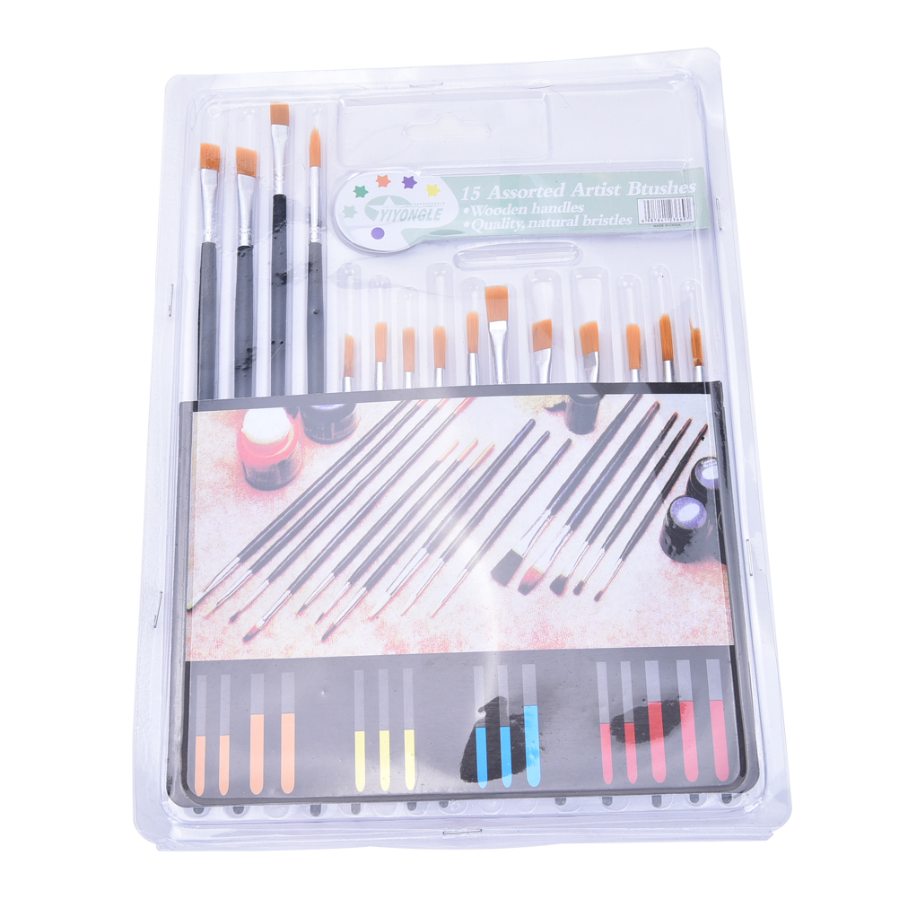 Paint Brushes Enthusiastic 1/3/6/10/12/15pcs/set Kids Student Watercolor Gouache Painting Pen Nylon Hair Red Wooden Handle Paint Brush Set Drawing Art Pen Office & School Supplies