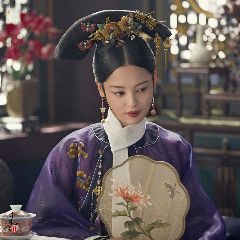 3 Designs Xin ZhiLei Imperial Consort Qing Princess Embroidery Costume female for Latest TV Play RuYi's Royal Love in the Palace