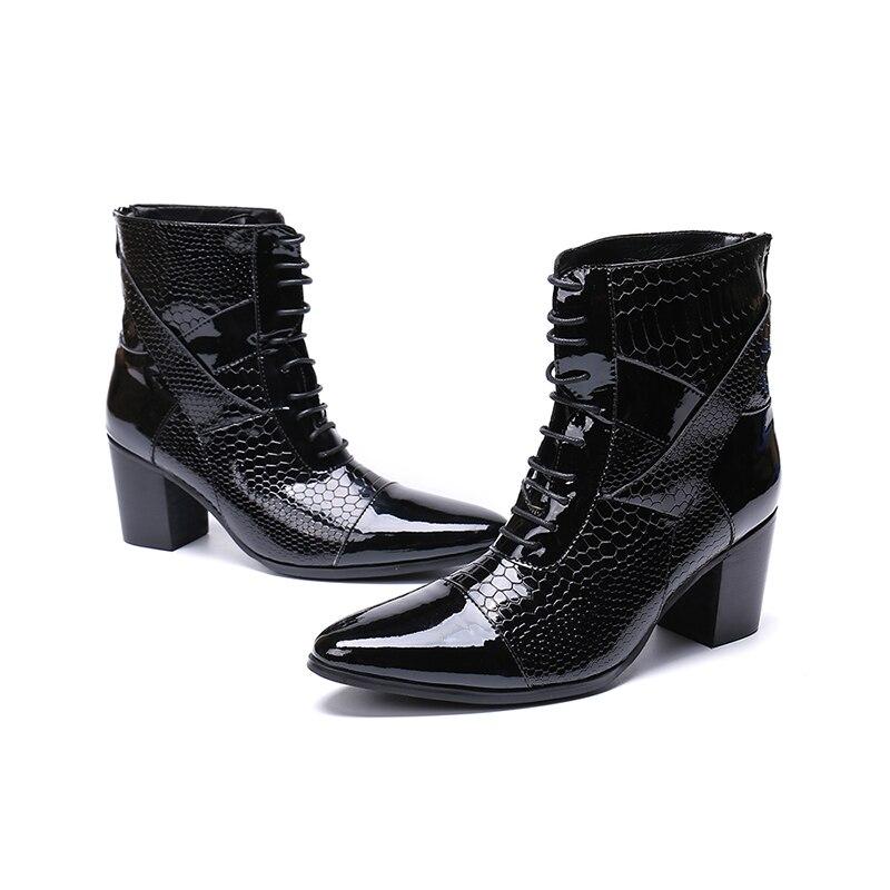 رجل أحذية 7 سنتيمتر عالية الكعب بوتاس هومبر الشتاء أحذية الرجال الأسود حقيقية leathercombat تشيلسي الأحذية الصلب اصبع القدم أحذية عسكرية-في أحذية تشيلسي من أحذية على  مجموعة 1