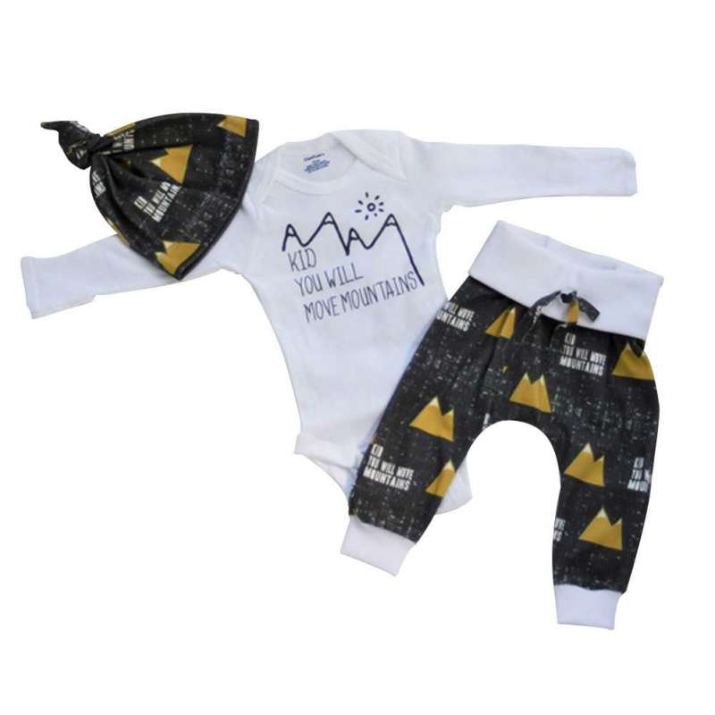 Spring Baby Clothing Sets Baby Boys Clothes Long Sleeve T-shirt+Pants+Hats 3Pcs Baby Suits