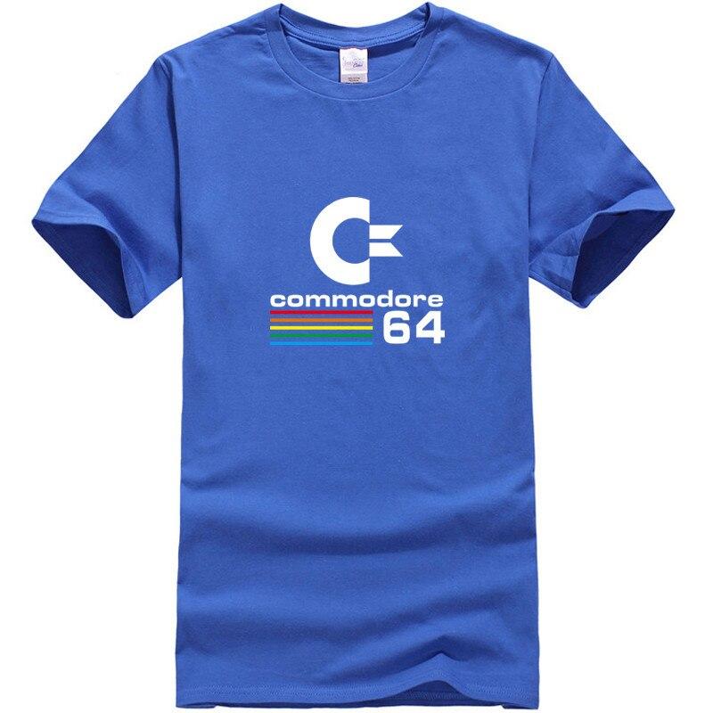 Для мужчин футболка Майки 2018 новые летние Commodore 64 печати высокое качество Твердые Хлопок o-образным вырезом короткий рукав Для мужчин S Костю...