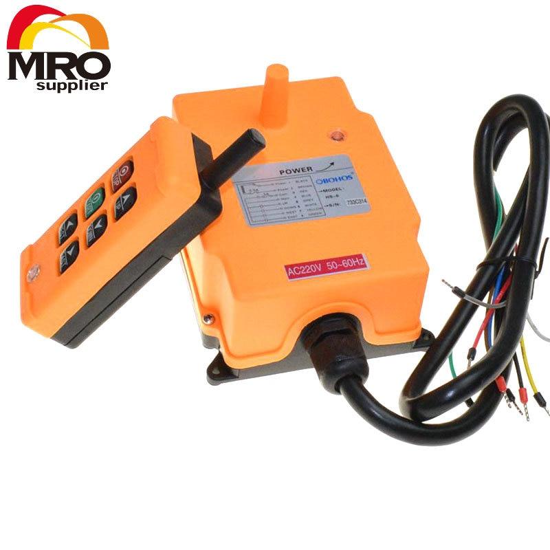 OBOHOS 6 Channels 1 Transmitter 1 Speed Control Hoist Crane Radio Remote Control System XH00010
