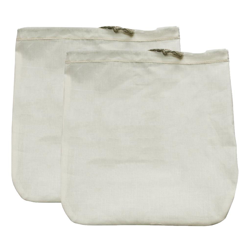 Food Grade Organic Cotton Milk Nut Filter Bag Cotton Coffee Soy Milk Fruit Juice Filter Bag Cotton Bag / Linen Bag 30X30CM
