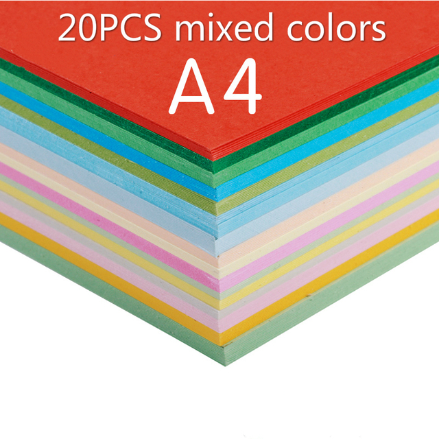 Color cardboard a4 20pcs mixed colors180g hard cardboard handmade color cardboard a4 20pcs mixed colors180g hard cardboard handmade card paper business card paper colourmoves