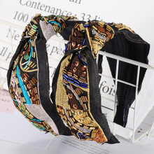 Embroidery Pearl Crystal Knot Headbands For Women Flower Hairbands Korea Hair Accessories Bands Head Wrap