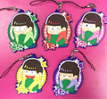5 pcs/set Osomatsu-san figures pendants Anime Mr osomatsu san Karamatsu Ichimatsu phone straps keychains bag ornament shipping