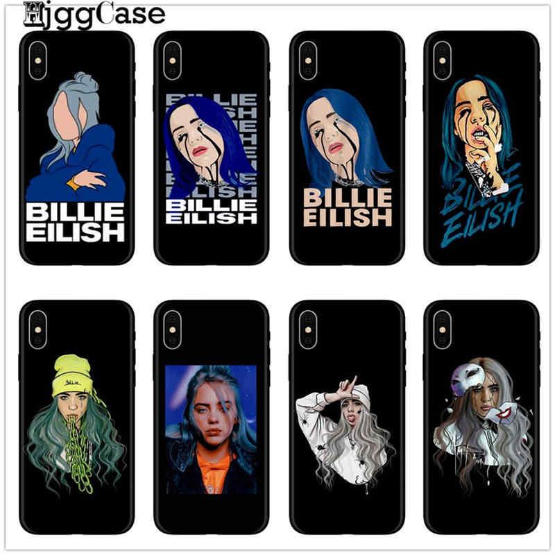 Billie eilish arc-en-ciel blohsh Yeux Océans étui arrière souple en silicone or polyuréthane thermoplastique Téléphone étui pour iphone X 5 5 S SE 6 6splus 7 8 Plus XS MAX XR