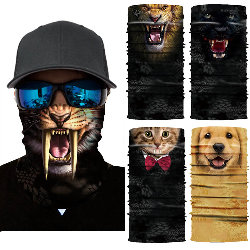 3D Animal Seamless Balaclava Scarf 1