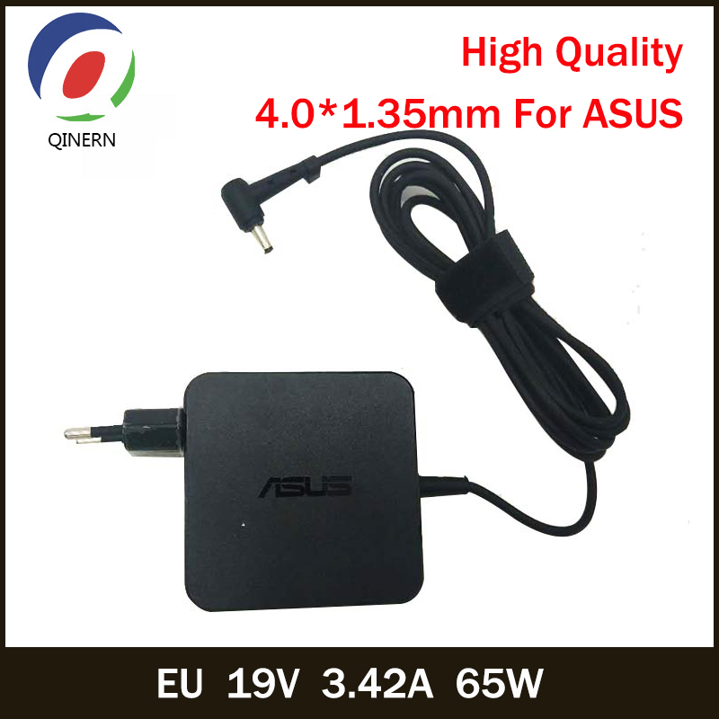 QINERN EU 19V 3.42A 65W 4.0*1.35mm AC Laptop Charger Power Adapter For ASUS UX21A,UX31A,UX32A,UX32V Power Supply For ASUS Laptop factory price 19v 1 75a 33w laptop ac power adapter charger for asus eeebook x205t x205ta