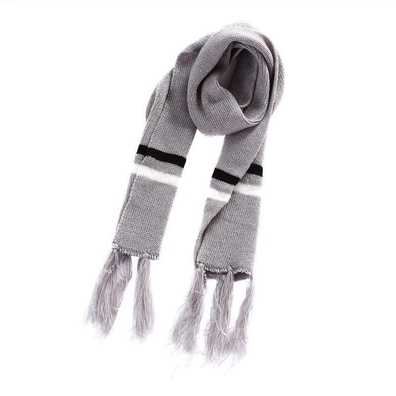 Children Winter Warm Knitted Beanie Cap Scarf Gloves Set Sequin Pentagram Pattern Best Sale-WT