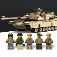 City Kazi Free shipping Military Theme Tank Building Blocks M1A2 ABRAMS MBT KY10000 1 Change 2 Toy Lepins Tank Model Toy