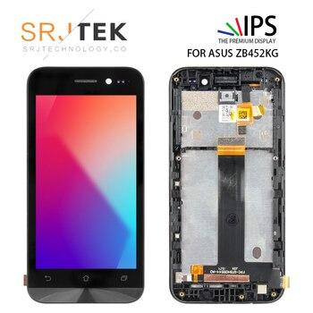 Asus Zenfone için Gitmek ZB452KG X014D lcd ekran Ile dokunmatik ekranlı sayısallaştırıcı grup Ile Çerçeve 4.5 inç Için ZB452KG X014D