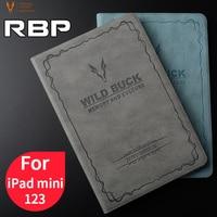 RBP para iPad mini 2 caso de cuero de la lona Retro para iPad mini 1 2 3 de la cubierta estela del sueño de Smart cover para el ipad mini caso 7.9 pulgadas