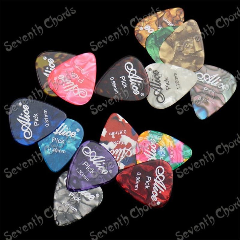 24 Pcs Mix Color Celluloid Guitar Picks Plectrums Plectra 0.46mm,0.71mm.0.81mm,0.96mm.1.2mm,1.5mm for choose