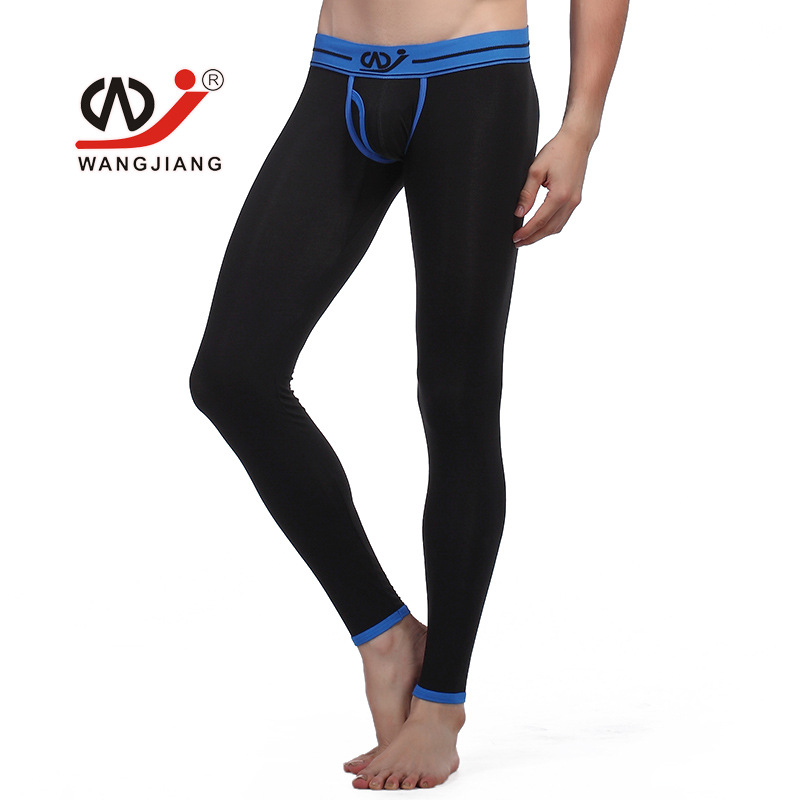 Fashion Mens Modal Thermal Pants Low Rise Winter Thermal Legging Long Johns S-XL