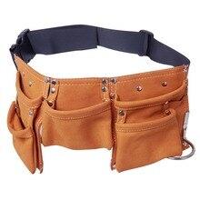 Tool Bag Belt Screwdriver Children Real Leather Tool Belt Work Bag Garden  Repair Waist Bag цена и фото