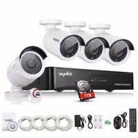 SANNCE 4CH CCTV Camera System 960H POE Network Video Recorder 1 3MP IPC IR Outdoor Video