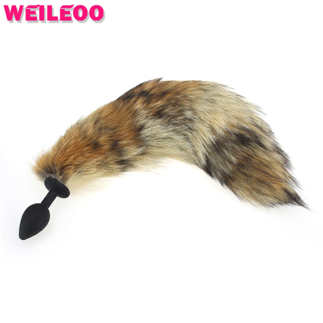 31e078b8b brown tail Silicone plug anal tail fox tail butt plug anal plug anal sex  toys for couple role play adult sex game