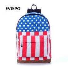 Юнион Джек Британский Американский флаг для мужчин и женщин моды случайные рюкзак школьный прилив мотоцикл рюкзак