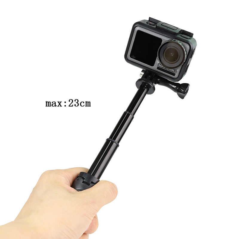 Bolsillo Polo Mini Selfie Stick + extensible mango del trípode para GoPro héroe 7 6 5 4 sesiones Insta360 Xiaomi Yi 4K + EKEN SJCAM DJI OSMO
