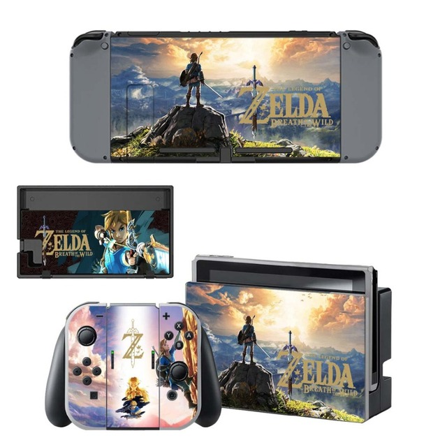 NS Game Skin Nintend Switch Console Sticker Vinyl Decal Skins Kit for Nintendo Switch Console and Controller 4