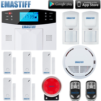 hot sale!!! 107 zone wireless and wired home GSM alarm system LCD dispaly support Russian Spainish, Italian,French,Czech Voice