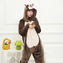 Adult Anime Kigurumi Onesies Squirrel Costume Women Cute Cartoon Animal Bunny Pig Pajamas Onepieces Sleepwear Home Cloths Girl