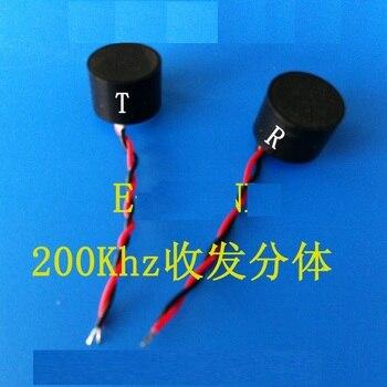 Sensor ultrasónico de alta precisión de 10mm a prueba de agua split sensor transceptor Frecuencia de sonda 200 KHz
