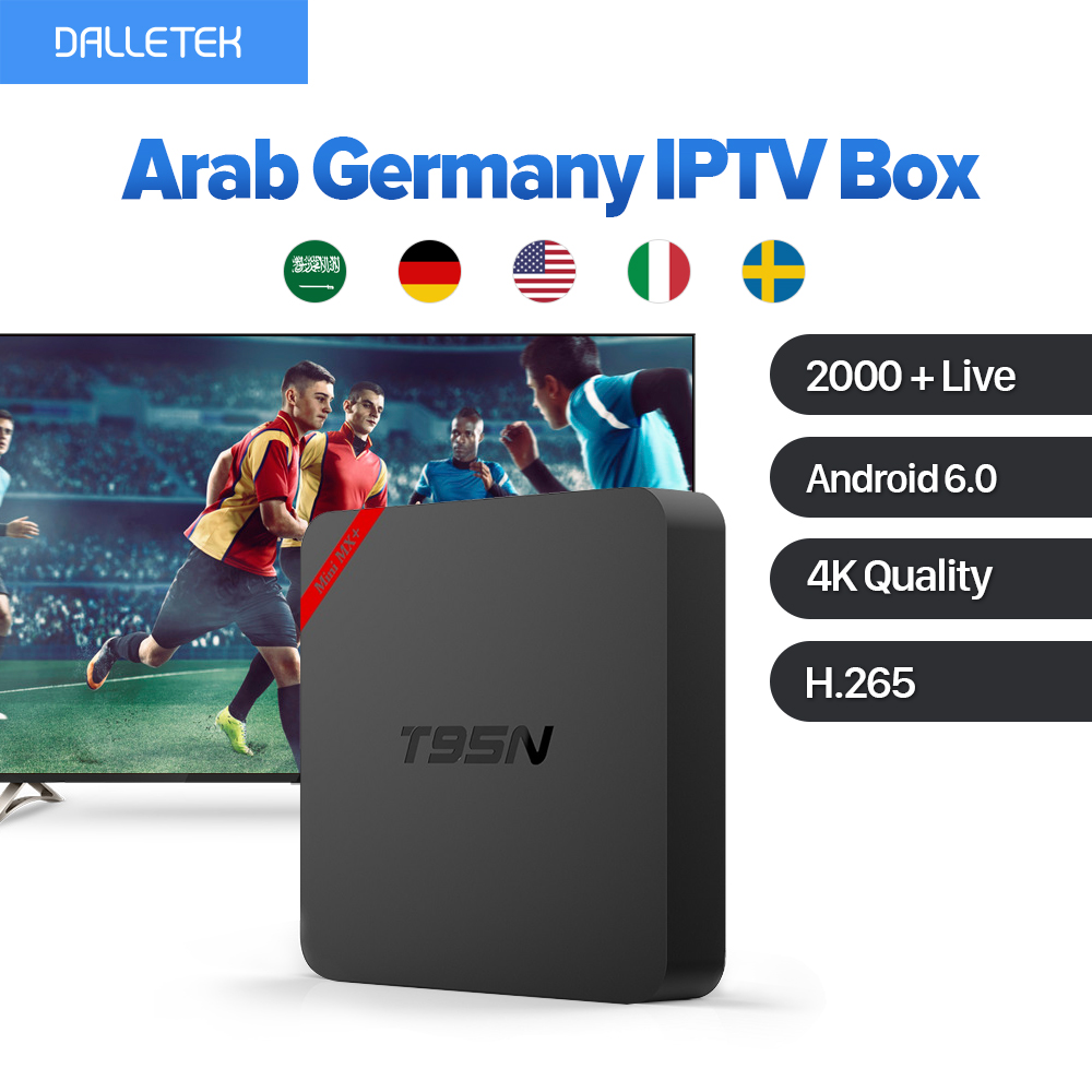 VOD Movie UK Europe French Arabic Germany Channels IPTV Set Top Box T95N Android 6.0 Smart TV Box IPTV 1 Year IUDTV Subscription movie iptv