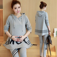 Pregnant Women Loose Sports Suit Home Clothing Autumn And Winter Maternity Dress