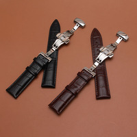 16mm 18mm 19mm 20mm 21mm 22mm 24mm Genuine Leather Alligator Grain Watch Band Strap Calf Watchband