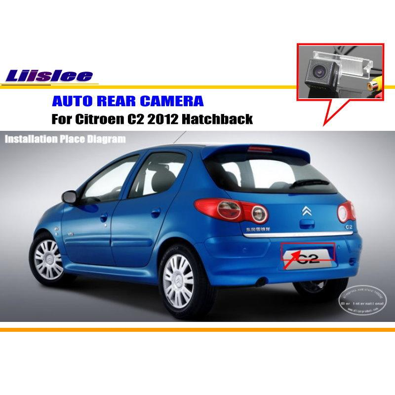 Liislee Автомобильная камера заднего вида для Citroen C2 2012 хэтчбек/Обратный Камера/HD CCD RCA NTST PAL/номерной знак света Камера