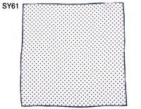 Fashion Men Pocket Square 100 Silk White Black Dot Print Handkerchief Gift For Wedding Party Business