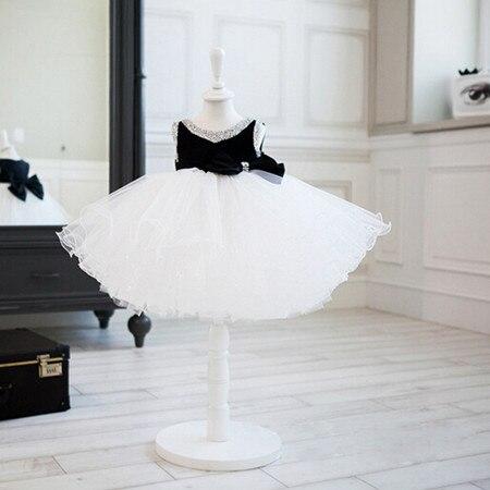 ed5394ace1 BABY WOW Summer baby girl 1 year birthday dresses handmade flower girl  dresses for weddings white black baptism dresses 8008-in Dresses from  Mother   Kids ...
