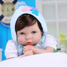 20 inch 50 cm Silicone baby reborn dolls for Children Beautiful blue sky beautiful doll dress
