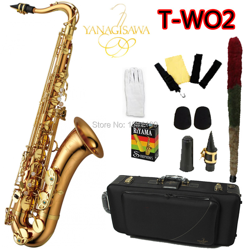 Brand NEW YANAGISAWA Tenor Saxophone T-WO2 Bb Gold Laquer Professional Sax Mouthpiece With Case and Accessories
