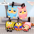 Cartoon Silicone Luggage Tag 2016 New Korean Style Travelling Fashionable Suitcase Label ID/Address Write Travel Accessories