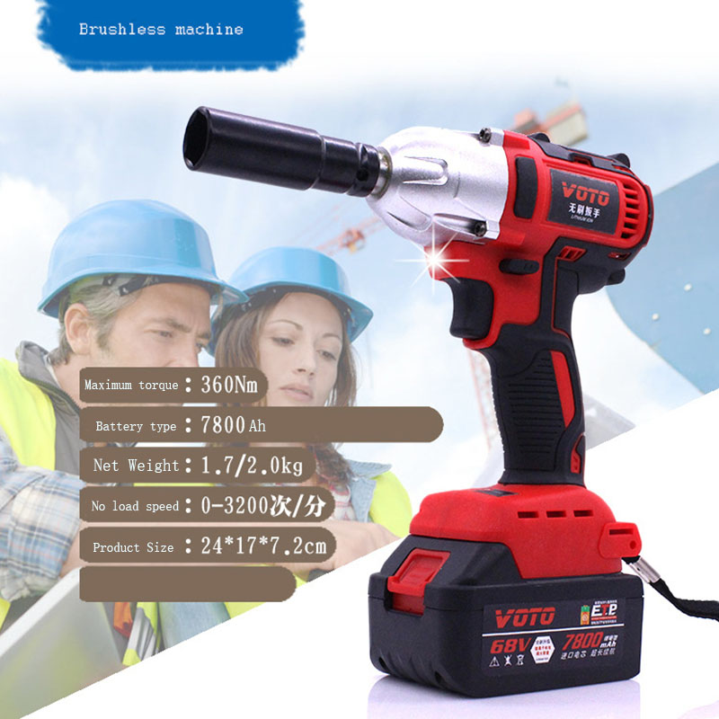 98TV 15000Amh Cordless Electric Wrench Impact Socket Wrench Li Battery Hand Drill Hammer Installation Power Tools цена