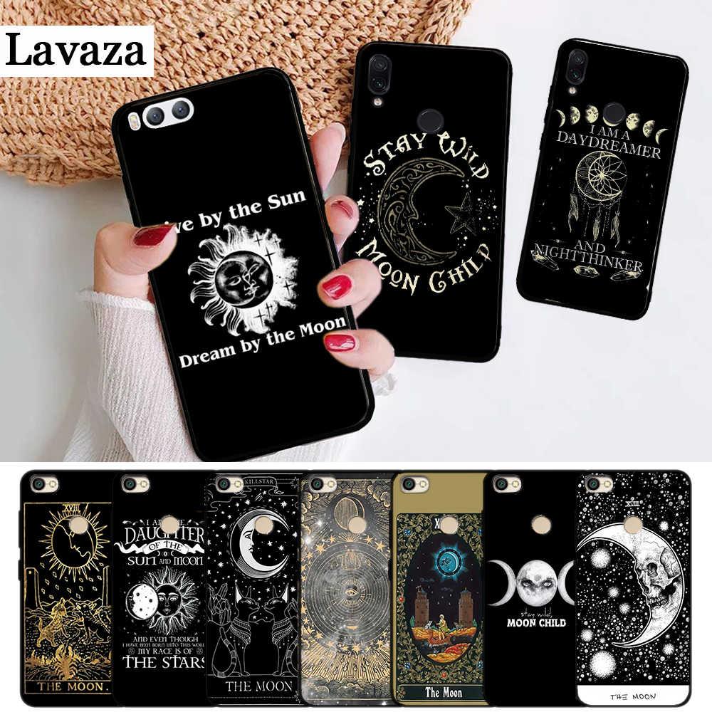 Lavaza Augur Mặt Trăng Tarot Thần Thánh Ốp Lưng Dẻo Silicone Xiaomi Redmi 4A 4X5 5A 6 6A 7 7A 8 8A K20 Pro Plus S2 Đi