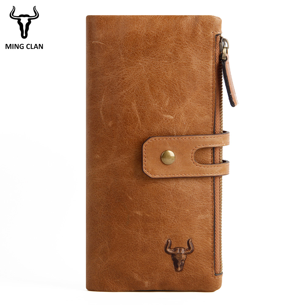 9bdcb99c8 Mingclan Genuine Leather Wallet Women Wallets Ladies Card Long Purse Clutch  Female Carteras Mujer Monederos Women's