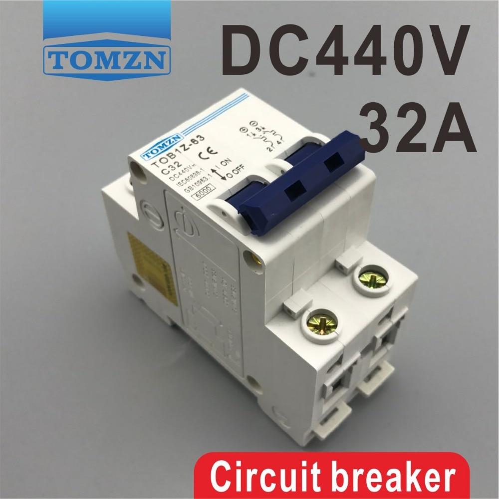 2P 32A DC 440V Circuit breaker MCB dhl eub 5pcs new ls miniature circuit breaker rkn 2p 2p 32a 15 18