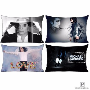 Custom Michael Jackson Pillow Covers Cases Rectangle Pillowcases zipper 35x45cm (One Side Print)180516-sina-17(China)