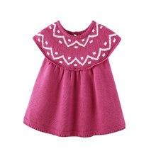 Auro Mesa girls dress vestido infantil Sleeveless Knitted autumn 1 year birthday