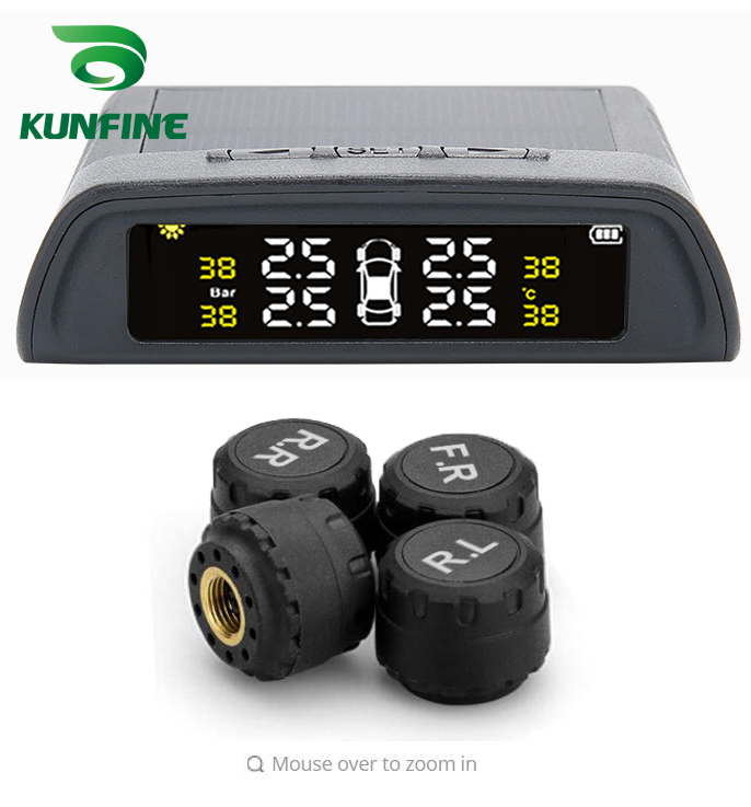 Smart Car TPMS Tire Pressure Monitoring System Solar Energy TPMS Digital LCD Display Auto Security Alarm Systems