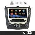 8 pulgadas de pantalla táctil indash coches reproductor de dvd de navegación gps para honda accord 7 2003-2007 incorporado bluetooth ipod radio