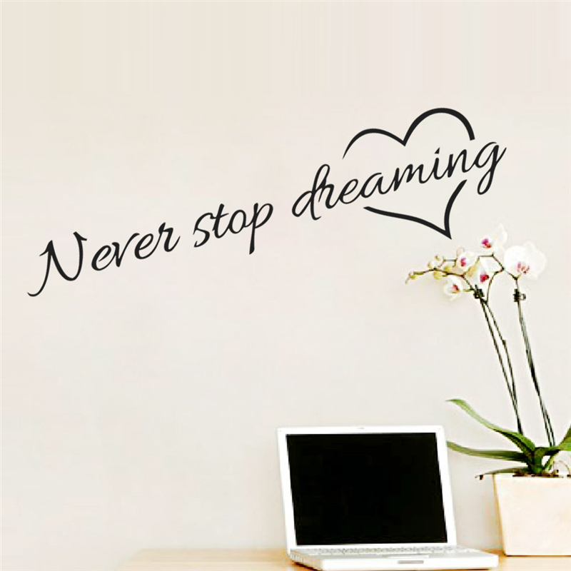 Never Stop Dreaming Wall Sticker 3