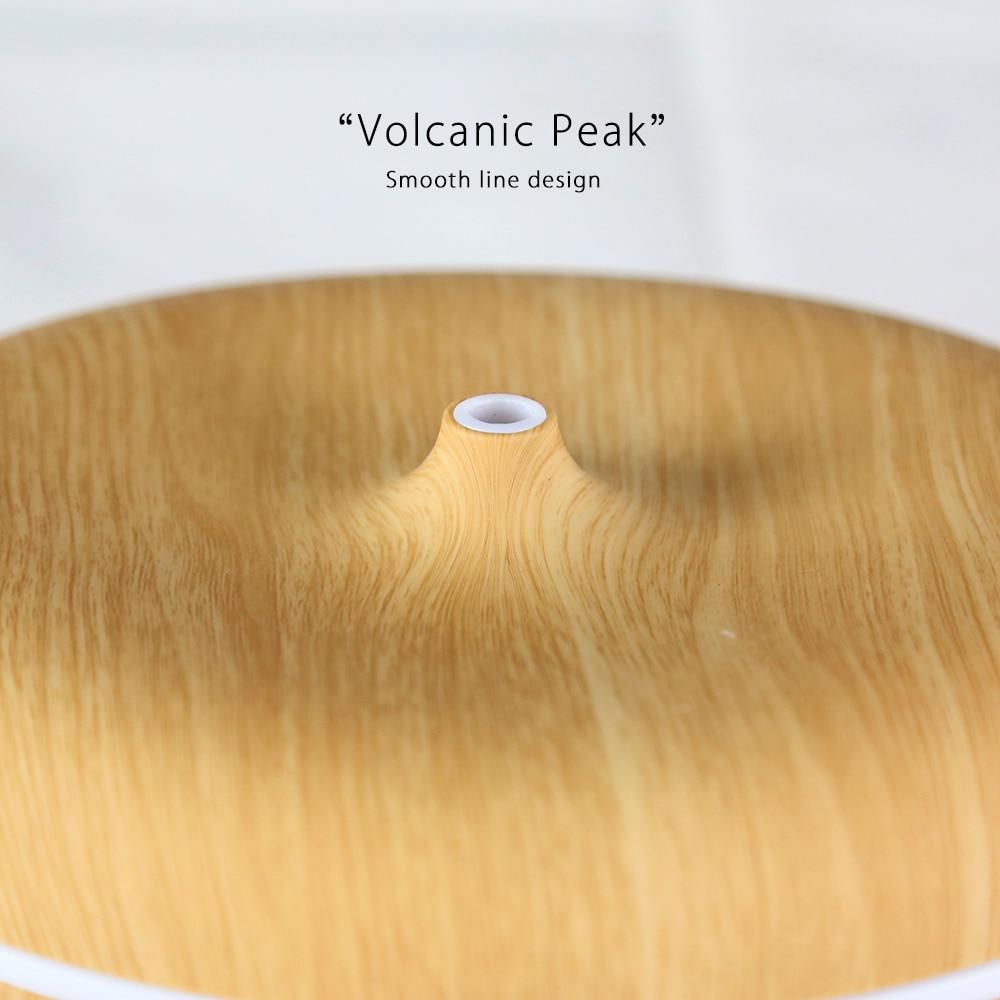 Aromacare 400ml 에센셜 오일 디퓨저 초음파 가습기 우드 - 가전 제품 - 사진 4