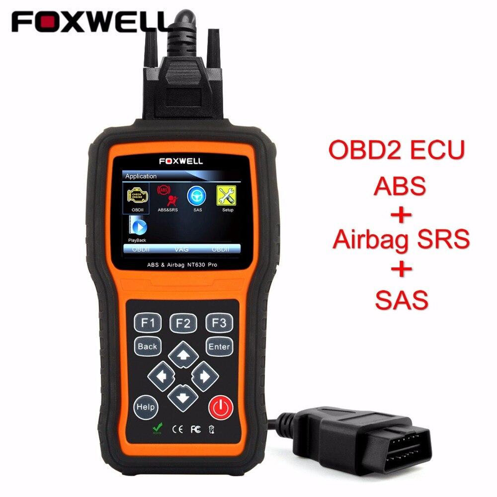 Цена за Универсальный OBD2 ABS Airbag Scan Tool Foxwell NT630 Pro SRS Подушка безопасности Аварии Данных Сброс Tool OBD Автомобильной Сканер Автомобиля детектор