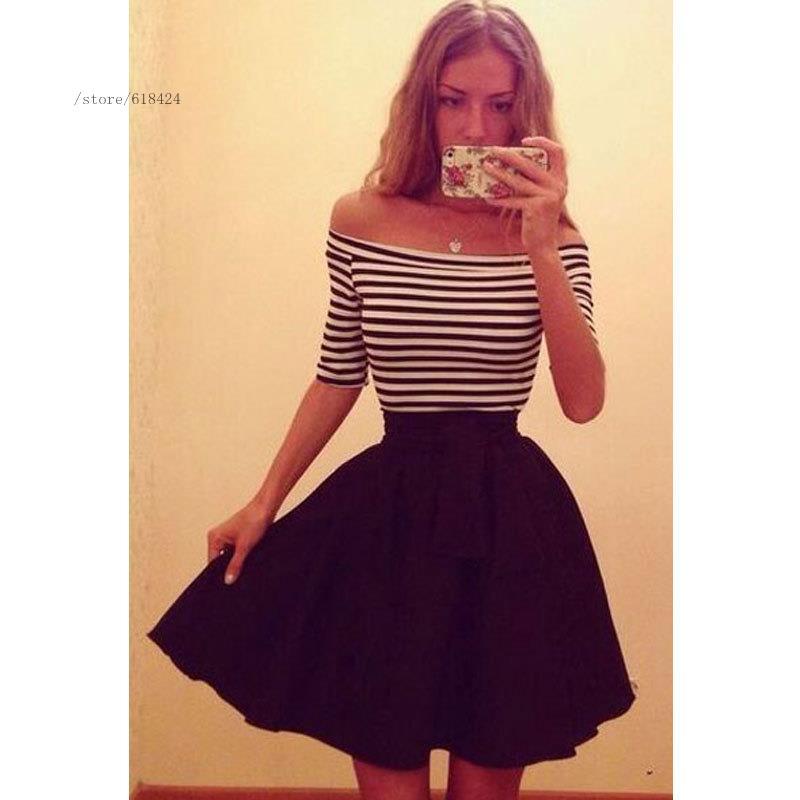 2016 New arrival summer european style fashion women ladies short sleeve  dress casual cute girl party office elegant short dress,in Dresses from  Women\u0027s