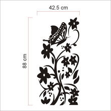 Free shipping high quality creative refrigerator sticker butterfly pattern wall stickers home decor